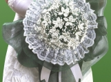 bridal bouquet:glory of snow