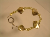 Freshwater Pearls and Mother of Pearl Bracelet