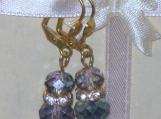 Aquamarine Czech Glass Earrings