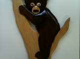 Baby Bear Cub in Tree, Wall Decor