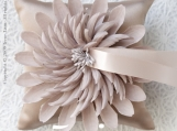 Nicole Bloom Series - Pale Taupe Wedding Ring Pillow