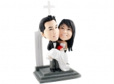 Personalized Wedding Cake Topper of a Groom Carrying his Bride
