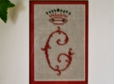 Venetian Monogram Cross Stitch Kit