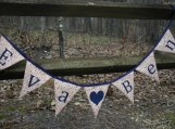 Name Fabric Banner, large triangle pennants