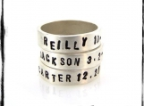Hand-Stamped Personalized, Custom Sterling Silver Unisex Ring Sizes 5-15  You choose name, words, phrase, date