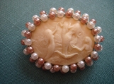 Siren Song Pure Ivory Mermaid Cameo with Pearls