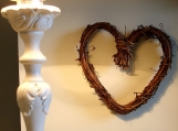 Twiggy heart wreath
