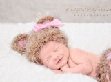 Crocheted Baby Bear Newborn Beanie with Matching Diaper Cover