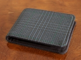 Mens 5 Pocket Billfold Wallet in Plaid Wool Suit
