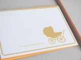 Carriage Congratulations Note Card
