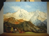 Nepal Mountains Original ACEO id1270750