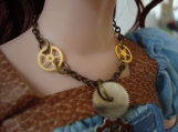 Steampunk Necklace To Fit Dolls Ellowyne, Delilah, Evangeline