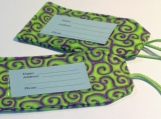 Fabric Luggage Tags