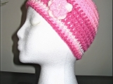 Ladies Crochet Hat with Flower