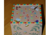 Wonderful  handpainted Wood Box with insect theme
