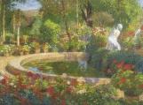 Fountain In Marquayrol Cross Stitch Pattern
