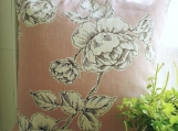 Chalk Pink Rose Print Cushion Cover