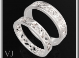 Beautiful His And Hers Silver Matching Wedding Bands Set