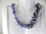 Purple beaded jazzy necklace