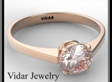 Statement Pink Morganite 14k Rose Gold Engagement Ring
