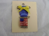 Flag Pin - Safety Pin Jewelry