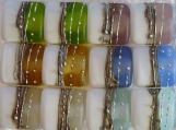 Frosties Silvered Bead Pairs Pastel Colored Nuggets MADE TO ORDER