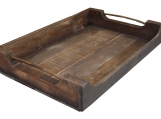 Primitive Wood Tray, wooden serving tray style 73