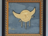 Eagle Arrow - Engraved Grey Vintage Slate Tile Plaque Frame