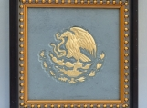Mexico Eagle - Engraved Grey Vintage Slate Tile Plaque Frame
