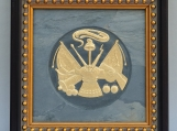 US Army Emblem - Engraved Grey Vintage Slate Tile Plaque Frame