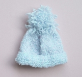 Baby Blue Hat, Hand Knitted
