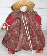 UNIQUE WOOD AND CLOTHE CUSTOM MADE COUNTRY SHELF DOLL - MOTHER'S DAY
