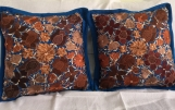 "1 pair (2 Blue pillow cover )  handwoven and Embroidered pillow cover 19.5"" x 19.5"" ( 50cmx50cm)"