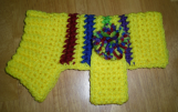 Hand Crocheted Doggy Sweater Yellow