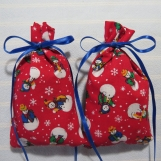 """Winter Red 4""""X2"""" Sachet-'Old Fashioned Christmas' Fragrance-011"""