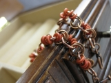 Copper Chain  and Red Bead Bracelet