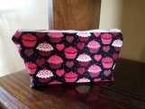 Cosmetics bag, makeup bag, toiletries bag, Cosmetic bag, medium, zipper bag