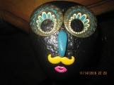 Rock-Natural Stone Painted with Plastic face & Metal Eyes