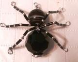 Wire Art Spider with Gemstone Charm