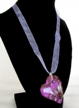 Sugilite Heart Necklace