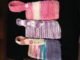 Knitted Baby Bibs 3pc set