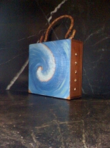 RHODE ISLAND WAVE design cigar box purse