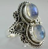 925 Solid Sterling Silver Handmade Rainbow Moonstone Ring
