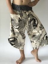 Samurai pants with Unique Hilltribe fabric Wrap Around