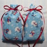 """Winter Blue 4""""X2"""" Sachet-'Winter Garden' Scent-Cindy's Loft-151"""