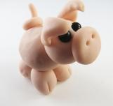 Clay pig  sculpture figurine