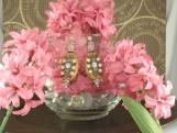 Crystal Wooden Earrings Set