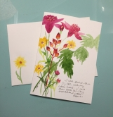 Floral Pinks Yellows Psalm 9:1 Hand-Painted Greeting Card