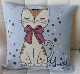 Love Cats Tapestry Cushion Cover