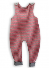 Geometry Funny Stripes Baby Dungarees Romper